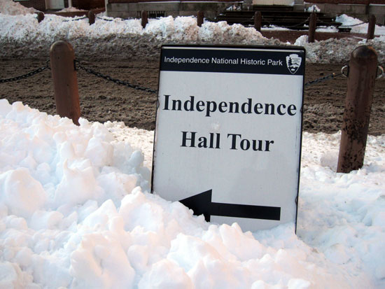 Tour Sign in Snow (Click to enlarge)