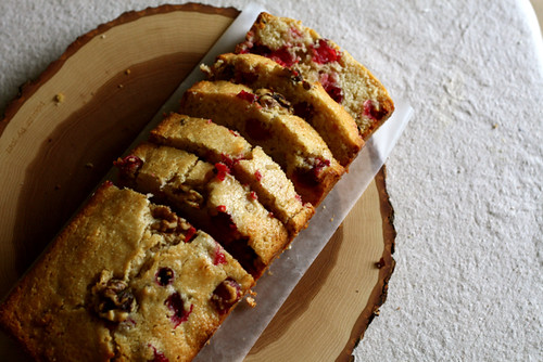 Honey Cranberry Cornmeal Bread