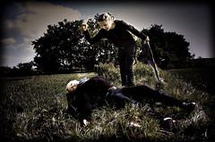 Suicide (LenaSteinke) Tags: nature dark outside person death kill suicide knife messer double mord murder twice effect tod dunkel doppelt selbstmord töten valena murderd nikond40