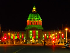 City Hall Holiday Lighting (J.B. Davis) Tags: sanfrancisco lighting city holiday bike hall holidays track masi ltd speciale