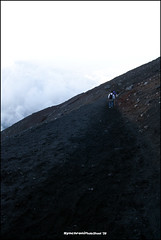 Down Mt. Fuji (Volcanic ashes covered) (Synchroni) Tags: japan   mtfuji fujiyoshida tamron1750 450d  yoshidaguchitrail