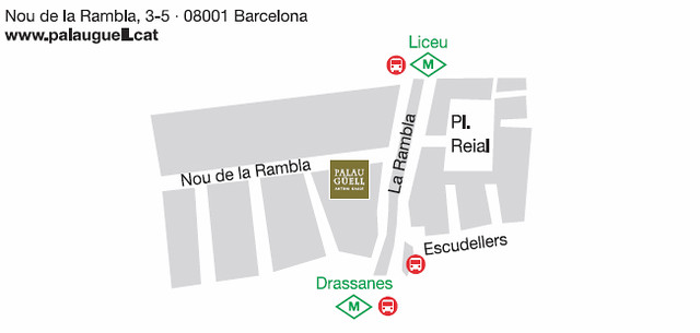Mapa-Palau Guell