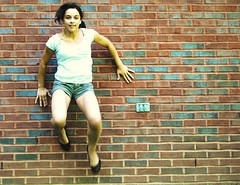 "day 18/365 ""off the wall"" (Brennana93) Tags: wall project michael jumping day bricks off jackson ow 365 fridays imagery lyrical 17365  fotojustfoto"