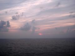 7-1-09 sunrise (OhDuranDuran) Tags: pictures cruise blue sunset vacation water glass sunrise island coast sony hamilton sunny tugboat horseshoebay bermuda shipwrecks 2009 pinksand torquoise kingswarf norweganspirit