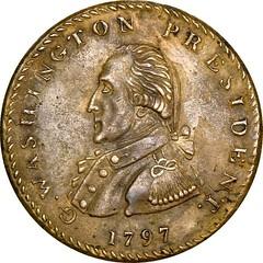 1797 Getz Masonic medal Baker 288 obverse
