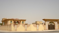 Villa and gate (DK310) Tags: sea sun shells beach reflections al doha shalow wakra