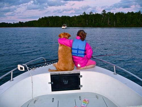 Ellie fishing