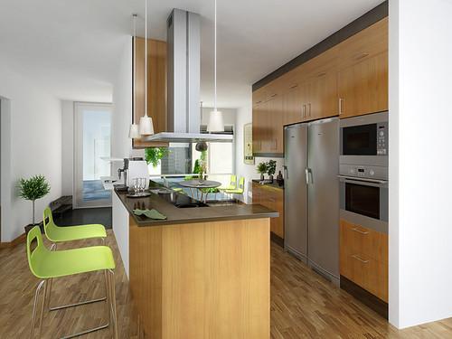 Kitchen Interior OrangeSprocket