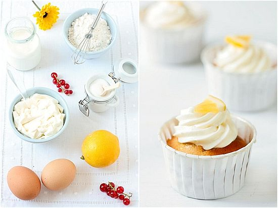 Meyer Lemon Limoncello Cupcakes