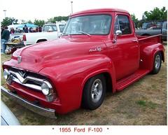 Fifty  Five  Ford (Bob the Real Deal) Tags: auto ca red hot ford 1955 truck spring kodak low pickup 1954 f100 turlock swap hotrod rod trucks 1956 custom rider 2009 meet 1953 ratrod 1955ford 1954ford 1956ford 1953ford