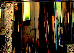 reflections in the coffee urn, balsac's coffee, distillery district, toronto (louise@toronto1) Tags: toronto district distillery reflectionsinacoffeeurn