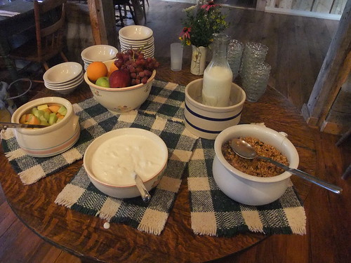 Breakfast Spread at the Inn at Cedar Falls