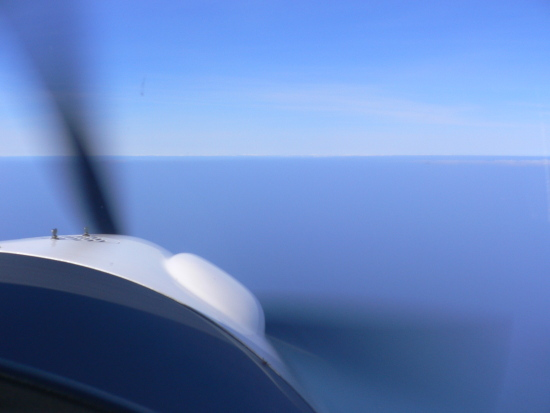Out of sight of land over the English Channel