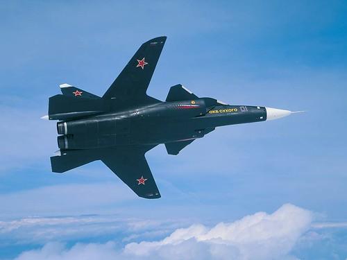 フリー画像| 航空機/飛行機| 軍用機| 戦闘機| Su-47 スホーイ47| Су-47|      フリー素材|