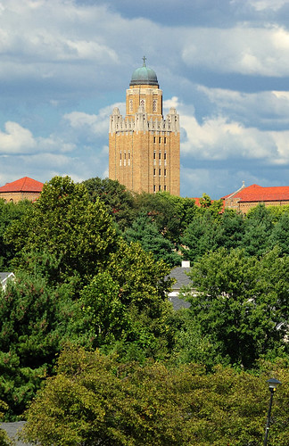 Kenrick-Glennon Seminary, in Shrewsbury, Missouri, USA - tower from a distance