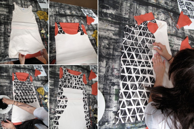 DIY potato printed dress 3