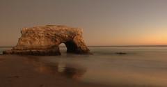 evening at natural bridges (jubewong) Tags: california longexposure sunset santacruz evening coast natural bridges highway1 naturalbridgesstatebeach