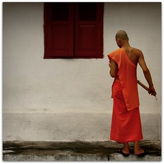 'Spiritual Life' (cisco ) Tags: portrait orange window monk monaco finestra cisco laos ritratto luangprabang monastero arancione monastry backshot photographia dispalle spirituallife thesuperbmasterpiece photographia magicunicornverybest magicunicornmasterpiece