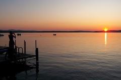 Take a photo, it lasts longer (J-Fish) Tags: sunset summer lake silhouette landscape photo candid newhampshire nh wentworth blogged lakewentworth z612 kodakz612 nhphototour cotcbestof2009