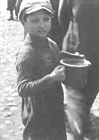 Jewish child in Lodz Ghetto