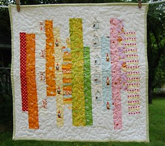 Heather Ross quilt swap for Suzanne (foofanagle) (ollie.kate) Tags: quilt swap stippling miniquilt heatherross lighteningbugs