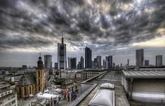 Skyline Frankfurt (rawshooter72) Tags: sky panorama skyline canon eos rebel skyscrapers frankfurt galerie xs hdr zeil hdri photomatix tonemapped 1000d