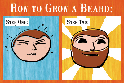 How To Grow a Beard (two steps)