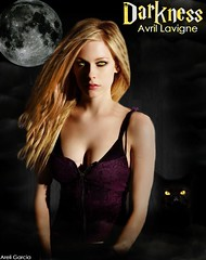 Avril Lavigne (Darkness) ( Areli Garca) Tags: cat dark shadows darkness ojos gato ramona avril desing blend lavigne areli
