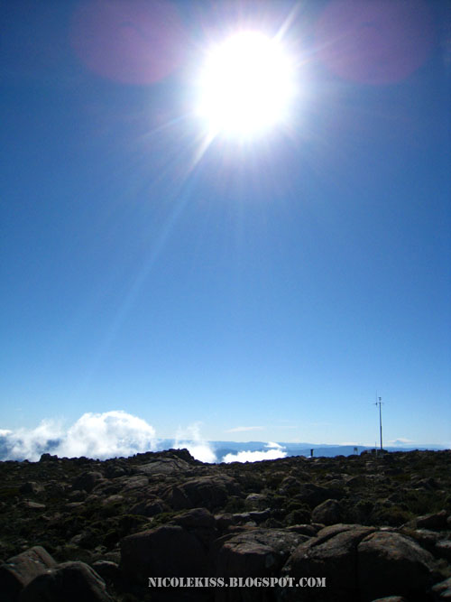 sun light on mount wellington