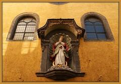 Looking up at Madonna (Ciao Anita!) Tags: church statue germany deutschland maria madonna chiesa statua kerk germania beeld duitsland westerwald linzamrhein