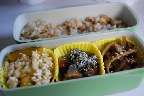 カボチャの鶏ひき肉あんかけ&ラタトゥーユ弁当