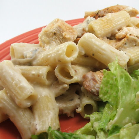 Creamy Parmesan Pasta with Mushrooms and Chicken