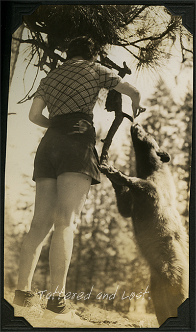 woman with bear_tatteredandlost