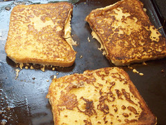 French toast on the griddle