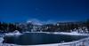 Ebbetts Pass Kinney Reservoir @ 15 degrees F (After Dark Photo) Tags: longexposure nightphotography blue lake mountains water stars fullmoon startrails sierranevadas alpinecounty ebbettspass kinneyreservoir
