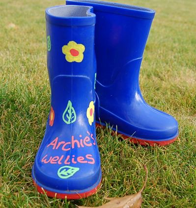 Archie's wellies