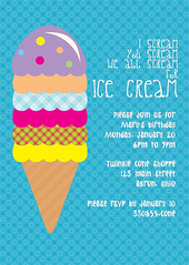 icecream1rgbtiny (lesley.anne.k) Tags: graphicdesign cone invitation icecream scream invite icecreamsocial icecreamcone