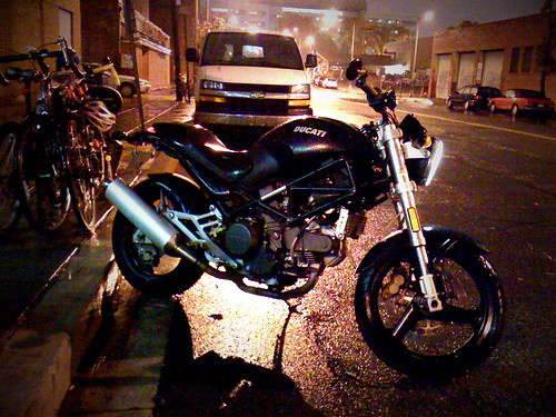Ducati Monster Outside 9:30 Club [phonetography]