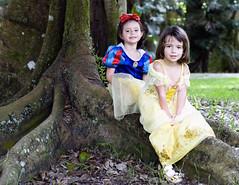 Snow White & Belle (www.LKGPhoto.com) Tags: portrait halloween children costume child naturallight belle snowwhite lkgphotography wwwlkgphotocom