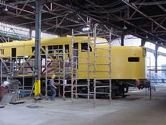 FPM238 Locomotiva CP 600 'Jaburu' - Restauração 6 (Fernando Picarelli Martins) Tags: locomotive restauração locomotiva jaburu jundiaí ferrovias cpef apmcp alcopa2 complexofepasa classea1aa1a cpnº600 associaçãodepreservaçãodamemóriadacompanhiapaulista locomotivadiesselelétrica companhiapaulistadeestradaseferro