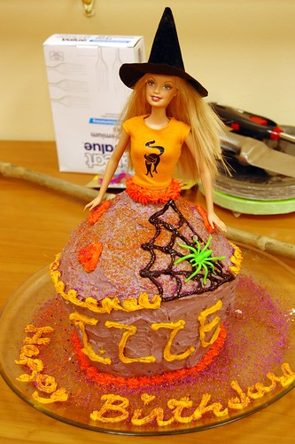 Barbie Witch Cake.