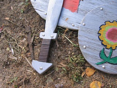 Close- up of Ross' sword handle craftmanship