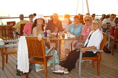 Enjoying a drink at sunset (Diane Sarah Williams) Tags: cruise celebrity century med 2009 cruisesept2009