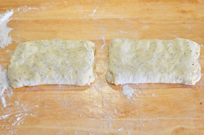 folded stretched dough, stretched and folded again
