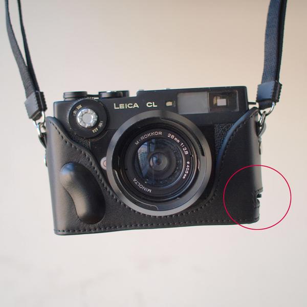 Leather Zeiss Ikon ZM Black with Black Stitch Half Case BRAND NEW