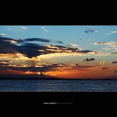 Timing. ([ Kane ]) Tags: sunset sky sun water clouds port landscape brisbane qld queensland kane gledhill 50d kanegledhill wwwhumanhabitscomau kanegledhillphotography