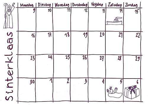 kalender van de sint 2009