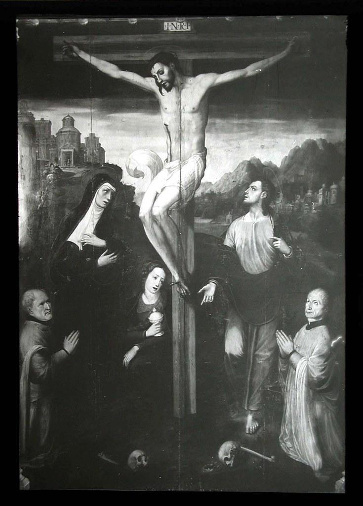 Cuadro de Correa de Vivar de la Capilla de Santa Catalina de la Iglesia de El Salvador a inicios del siglo XX. Ateneo de Madrid