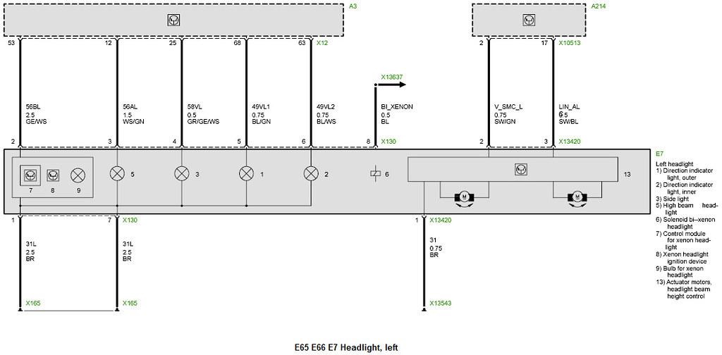 Wiring Schematic E65 Bmw