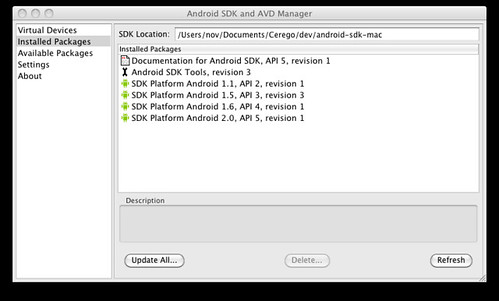Android SDK - Installed Packages